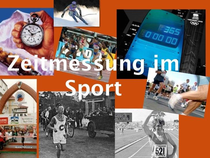 Zeitmessung im     Sport