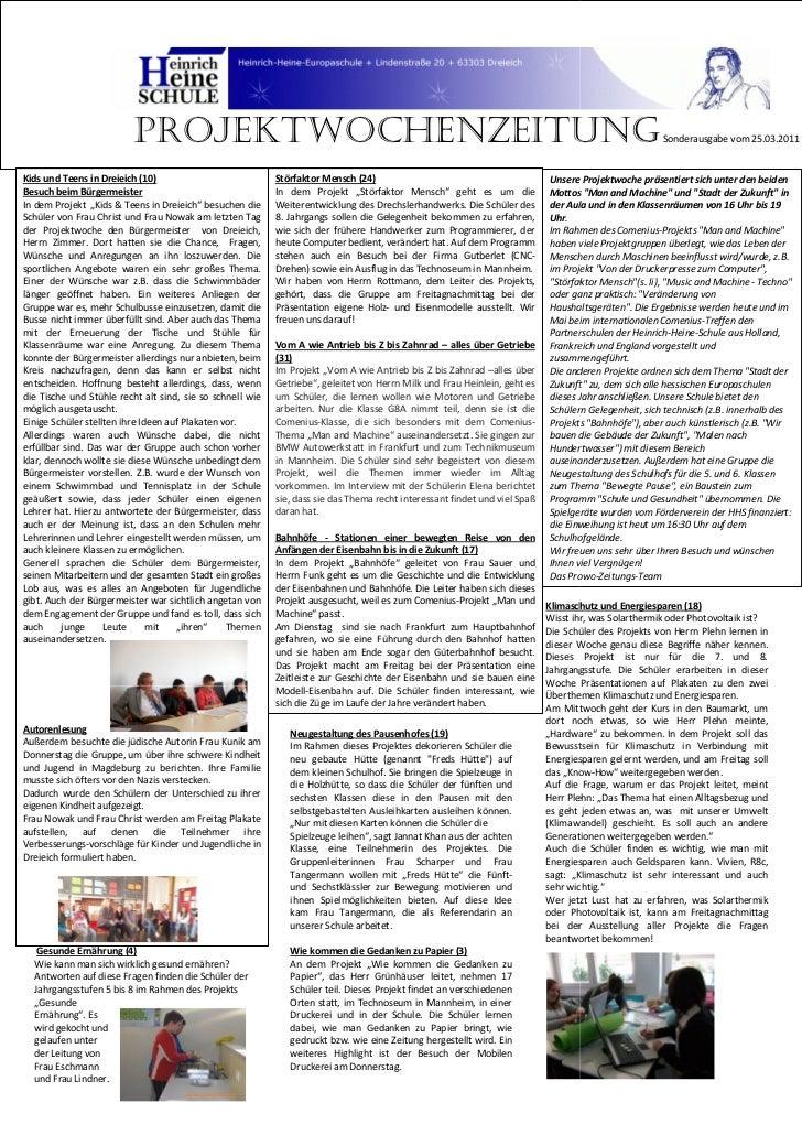 Projektwochenzeitung                                                                                                      ...