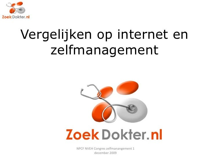 Zelfmanagement Npcf 1 Dec 2009