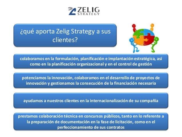 ¿qué aporta Zelig Strategy a sus          clientes?colaboramos en la formulación, planificación e implantación estratégica...