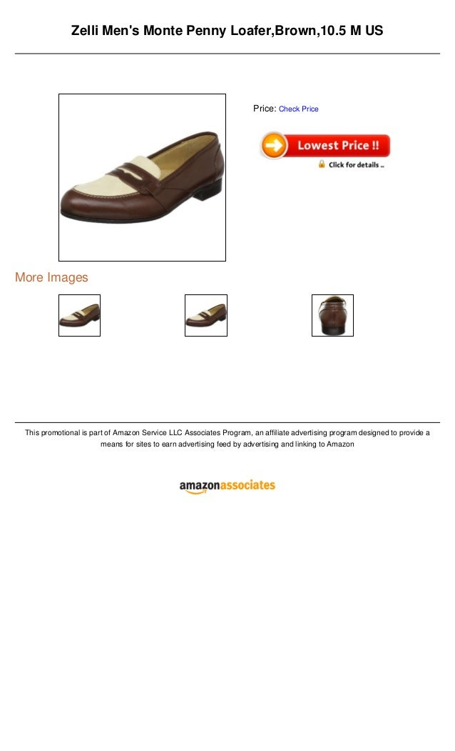 Zelli Mens Monte Penny Loafer,Brown,10.5 M USMore ImagesThis promotional is part of Amazon Service LLC Associates Program,...