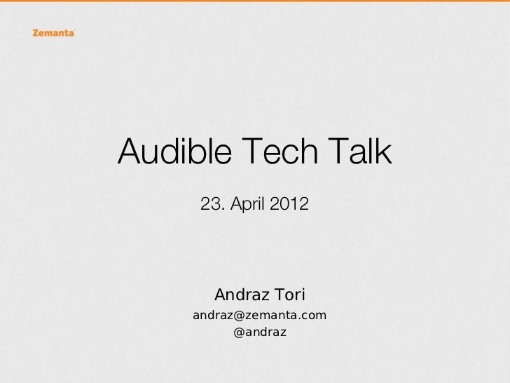Zemanta Tech Talk at Audible