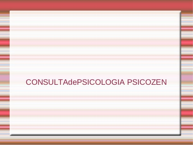 CONSULTAdePSICOLOGIA PSICOZEN