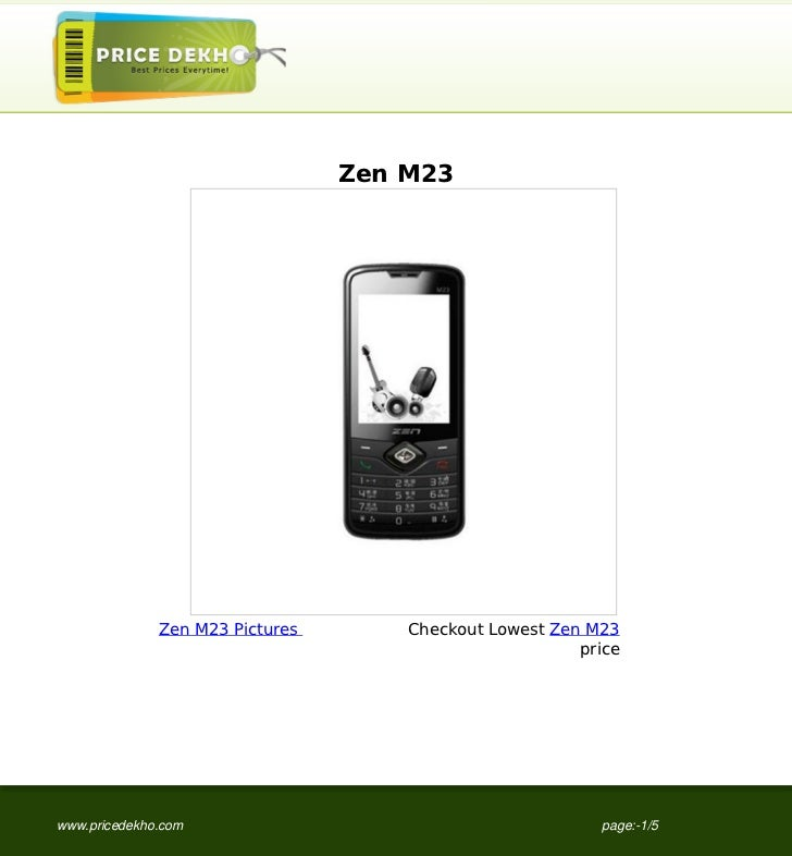 Zen M23 specification