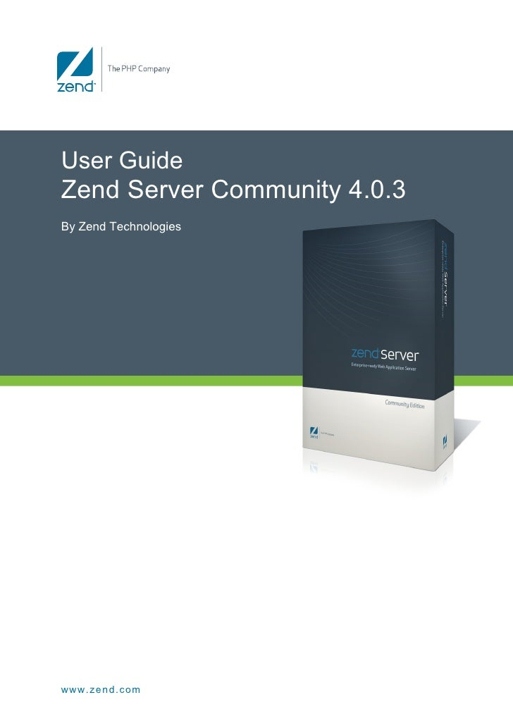 Zend Server Ce Reference Manual V403
