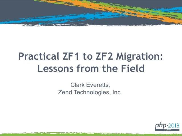 Zend con practical-zf1-zf2-migration