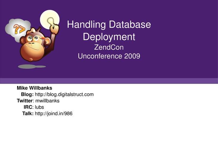 Handling Database Deployments