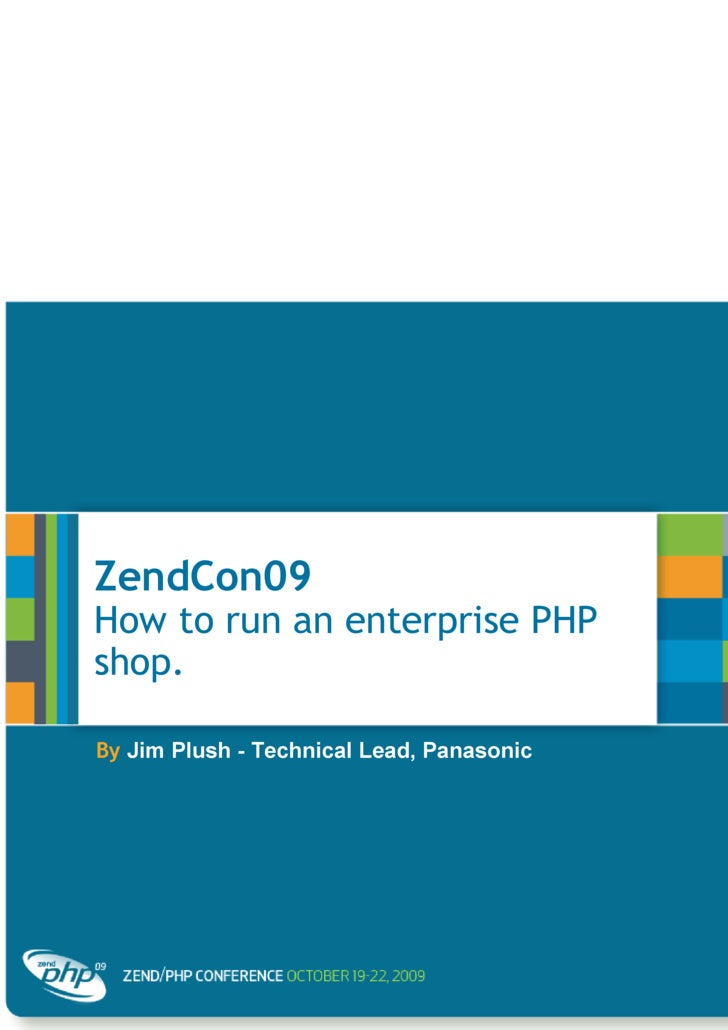 How to run an Enterprise PHP Shop