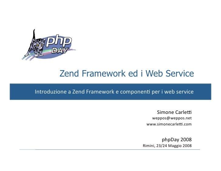 ZendFramework e Web Service