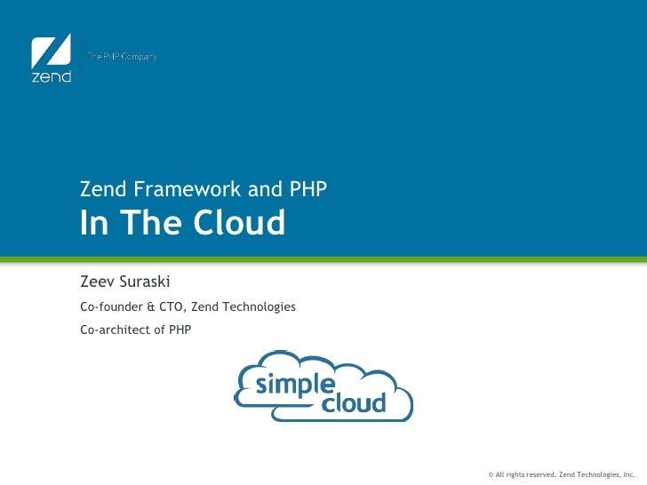 Zend In The Cloud