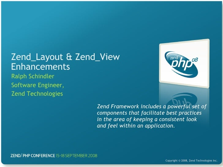 Zend_Layout & Zend_View Enhancements