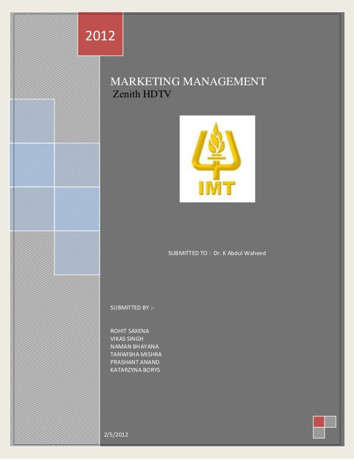Zenith hdtv marketing strategy