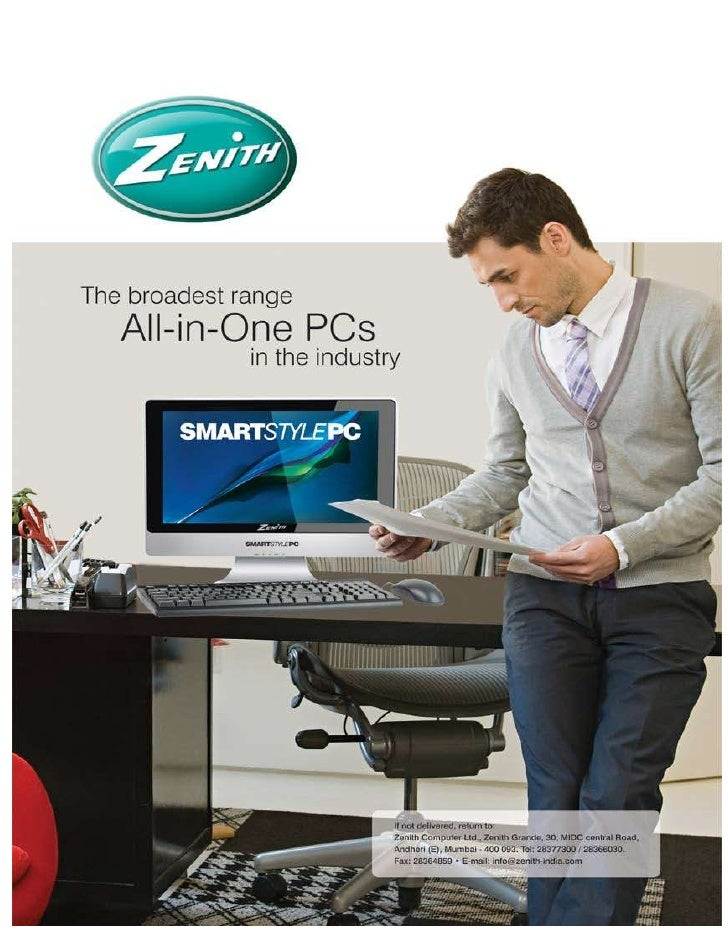 Projected savings on usage of Zenith SmartStyle PCs:  Assumptions:      Considering a set-up is using 100 nos Desktops.  ...