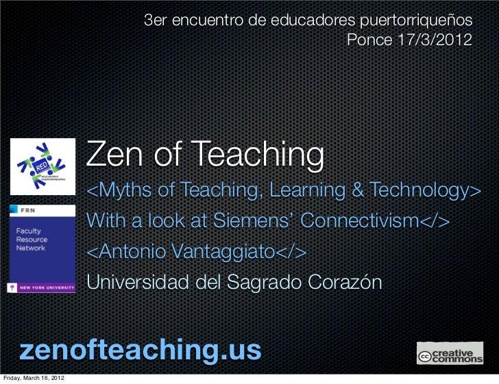 Zen of Teaching