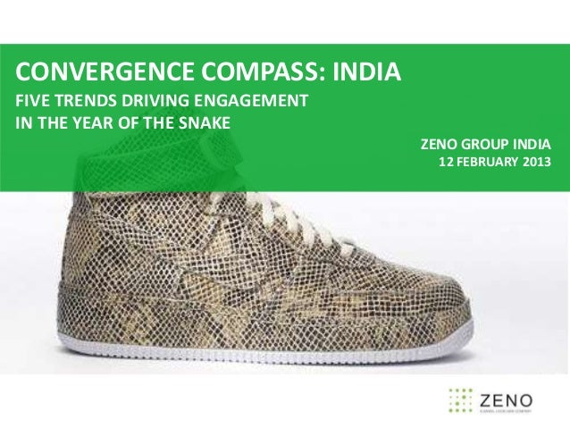 CONVERGENCE COMPASS: INDIAFIVE TRENDS DRIVING ENGAGEMENTIN THE YEAR OF THE SNAKE                                 ZENO GROU...