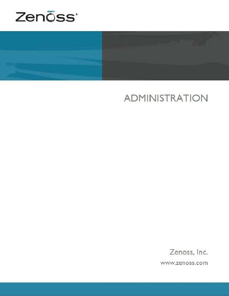 Zenoss administration