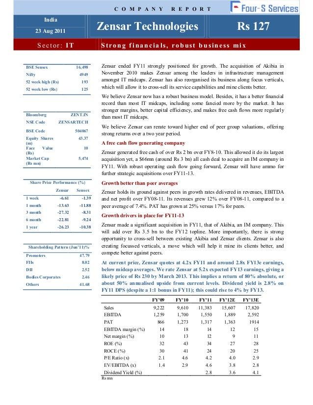 Zensar report