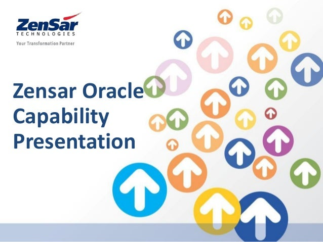 Zensar Oracle Capability Presentation