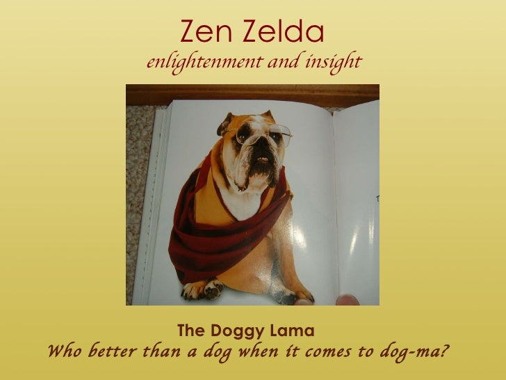 Zen Zelda enlightenment and insight The Doggy Lama Who better than a dog when it comes to dog-ma?