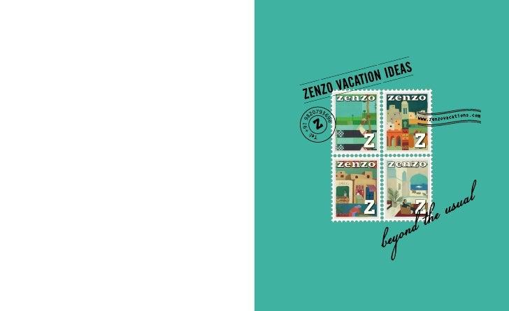 Zenzo Vacation Ideas Brochure
