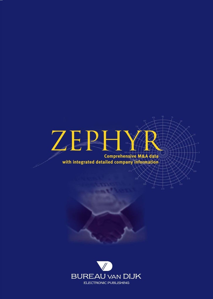 ZEPHYR              Comprehensive M&A data with integrated detailed company information