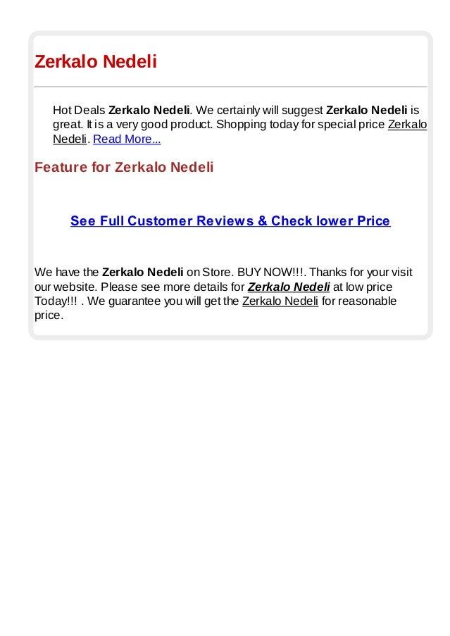 Zerkalo NedeliHot Deals Zerkalo Nedeli. We certainly will suggest Zerkalo Nedeli isgreat. It is a very good product. Shopp...