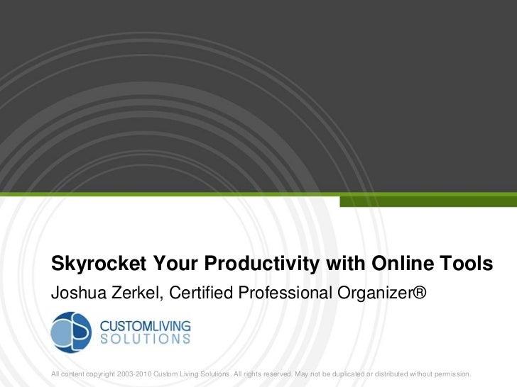 Joshua Zerkel Skyrocket Your Productivity with Online Tools