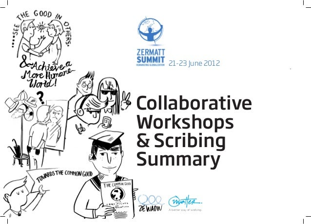 21-23 June 2012CollaborativeWorkshops& ScribingSummary   A better way of working.