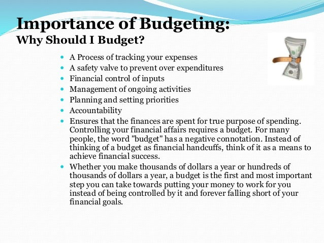 why budgeting is important essay
