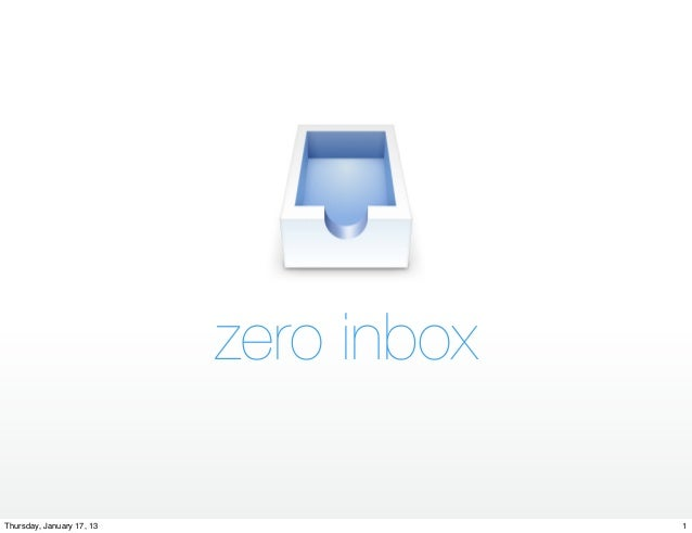 Steps to Working with a Zero Inbox
