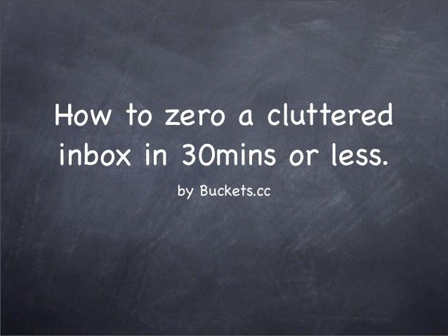 Zero inbox slide share