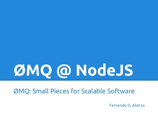 ZeroMQ with NodeJS