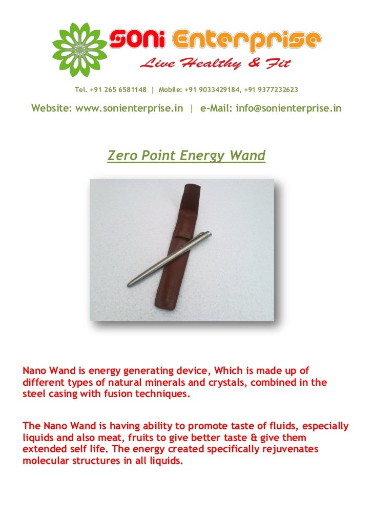 Manufacturer & Supplier Of Zero point energy wand, ZPE Nano Wand, Nano Wand, Scalar Energy Wand