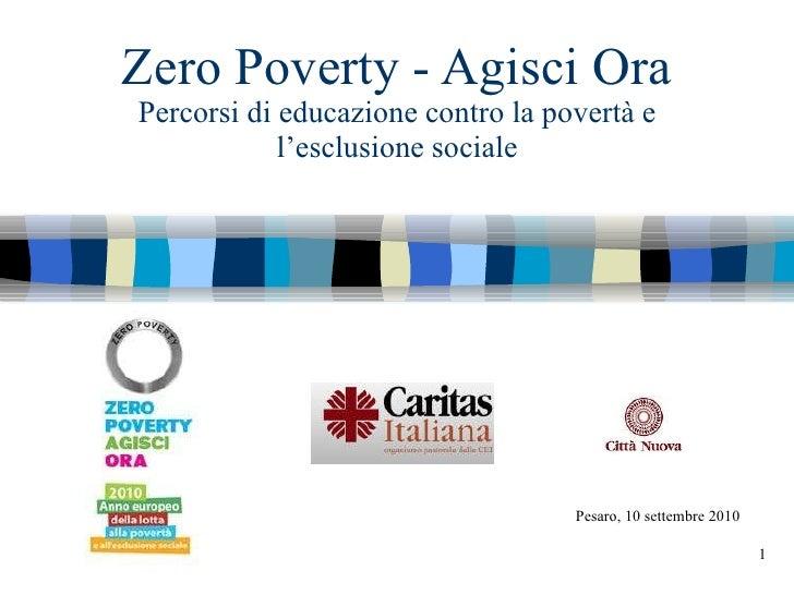 Zero poverty   Agisci ora