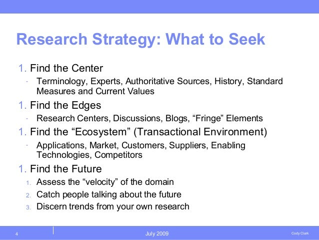 research strategy example Writing your reflective essay on research strategies writing a reflective essay on the research process is an opportunity for you to think back on what you.