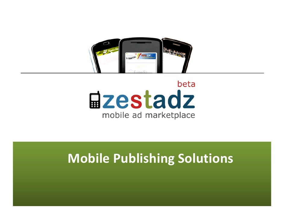 Mobile Publishing Solutions