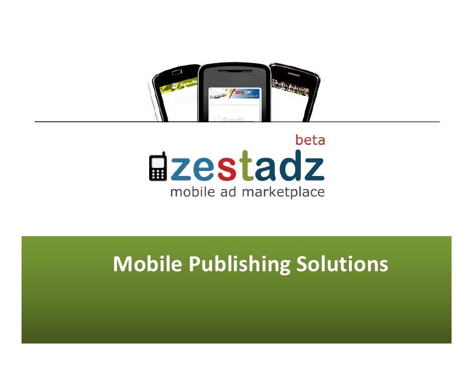 ZestADZ Publisher Presentation