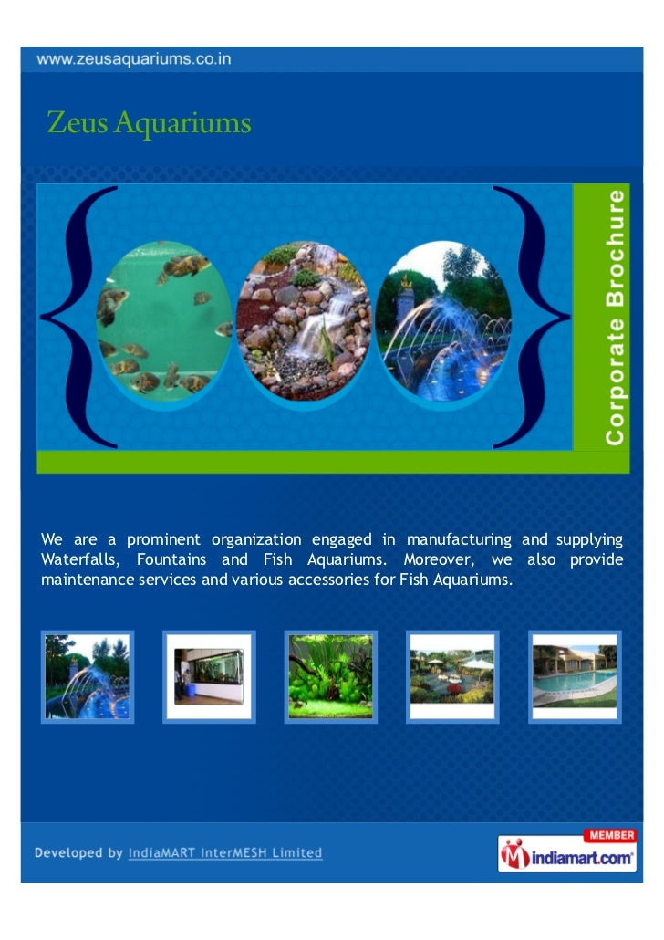 We are a prominent organization engaged in manufacturing and supplyingWaterfalls, Fountains and Fish Aquariums. Moreover, ...