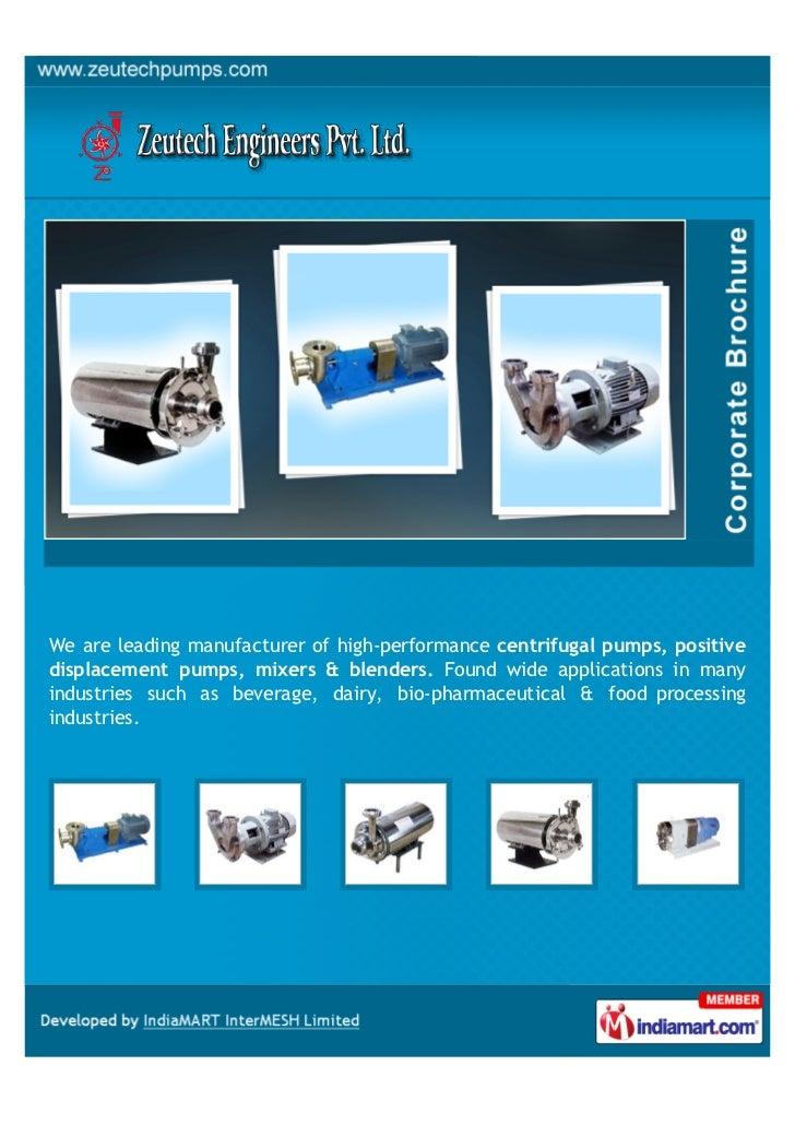 Zeutech Engineers Pvt. Ltd., Pune, Centrifugal Pump