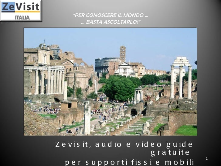 Zevisit Italia presentazione
