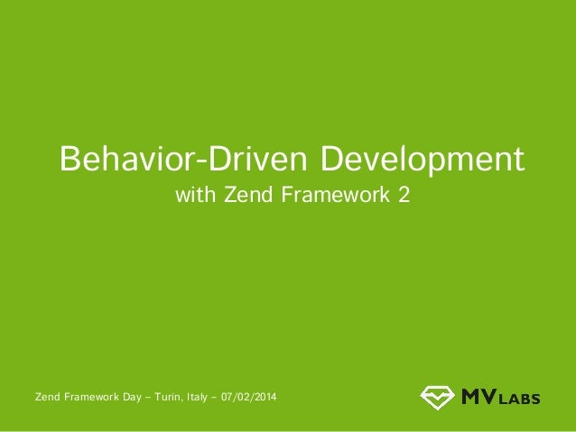 Behavioural Driven Development in Zf2