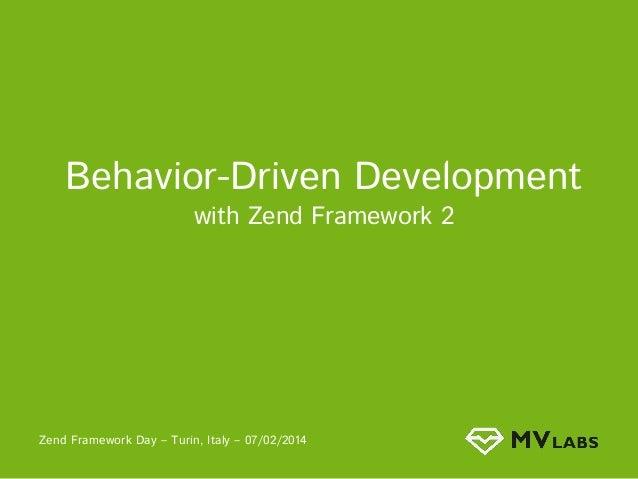 Behavioural Driven Development in Zf2