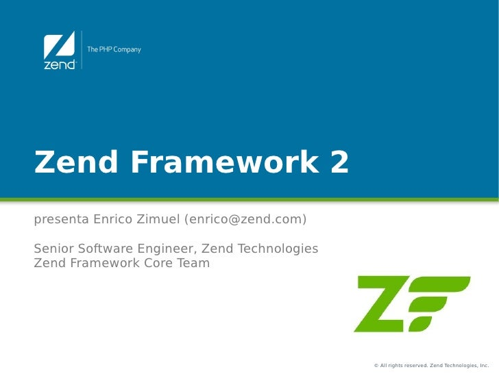 Il Pattern di Zend Framework 2