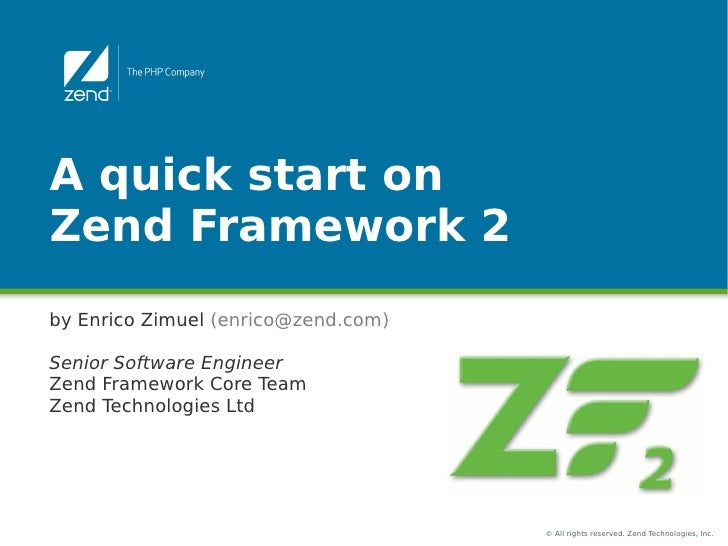 Quick start on Zend Framework 2