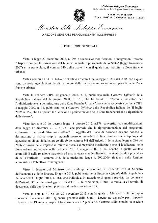 Zfu Campania: il Decreto del Ministero dello Sviluppo economico