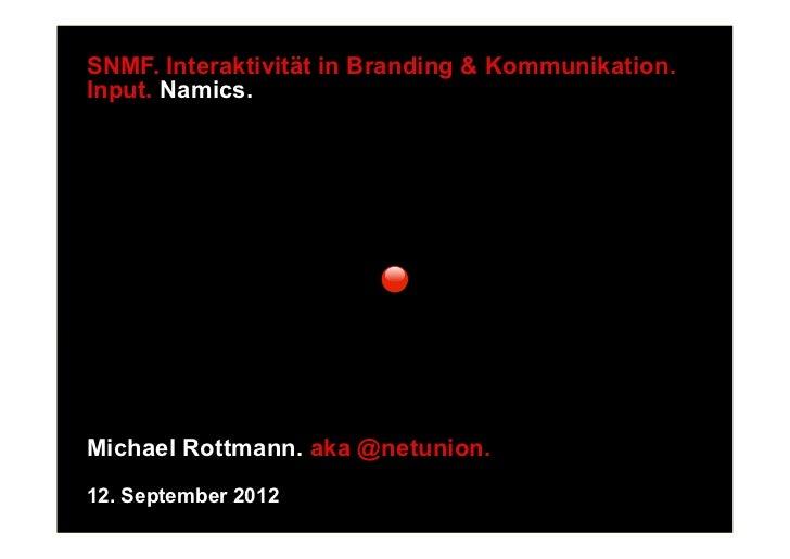 Interaktivität in Branding und Kommunikation - Vortrag