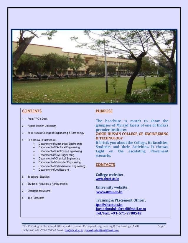 Zhcet(amu) brochure 2011