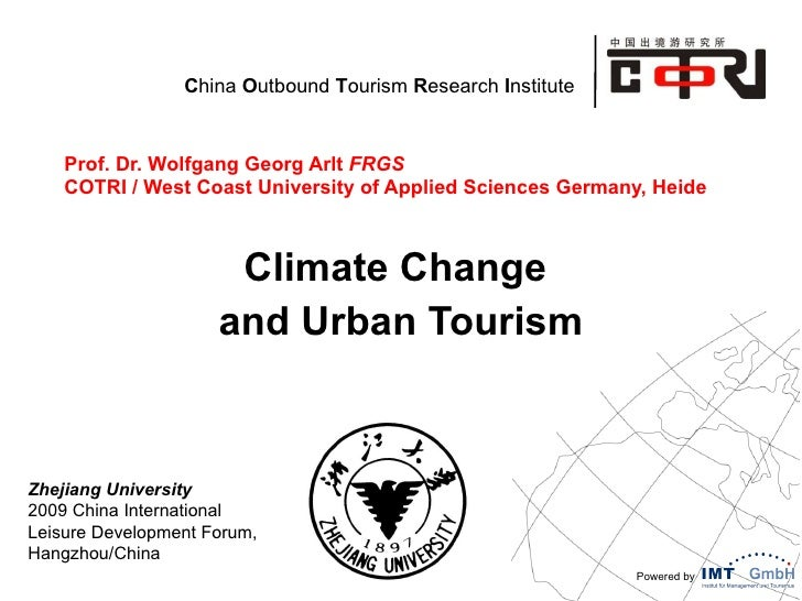 Climate Change and urban tourism in China