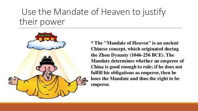 Zhou Dynasty Mandate Of Heaven