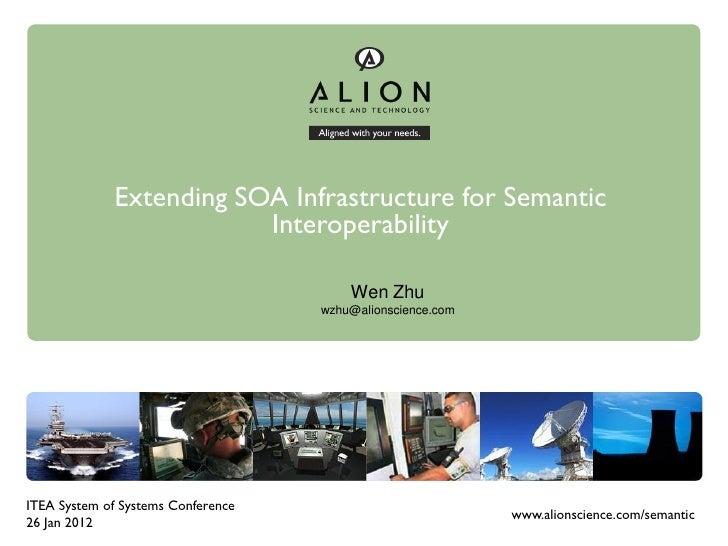 Extending SOA Infrastructure for Semantic                         Interoperability                                        ...